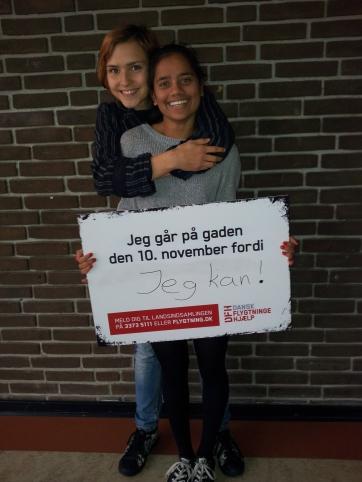 Søde piger fra Kongsholm gymnasium.