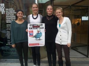 Koordinator-teamet i Nordvest og Emdrup. Fra venstre: Avin Mesbah, Sofie Vindis, Anna-Gro Kudsk Graubaek og Bettina Stuhr Lindskow.