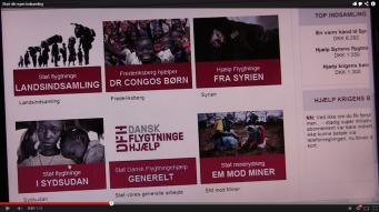 "Screenshot fra videoen: ""Start din egen indsamling."""
