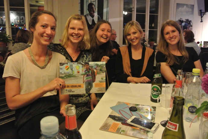 Fra venstre: Sally, mig (Bettina), Sarah, Kirstine og Louise.